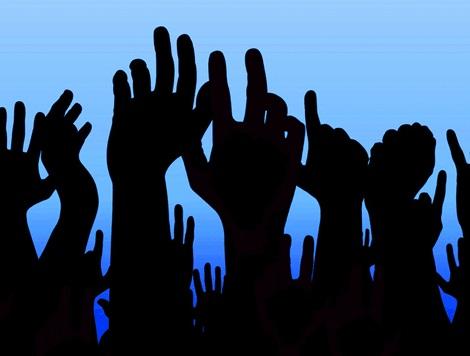 Democracy in Action - hands up!