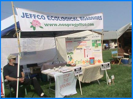 JCER Booth at the recent Jefferson County Fair